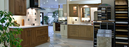 Classic Kitchens have an extensive showroom with a range of displays, material samples, appliances and accessories.